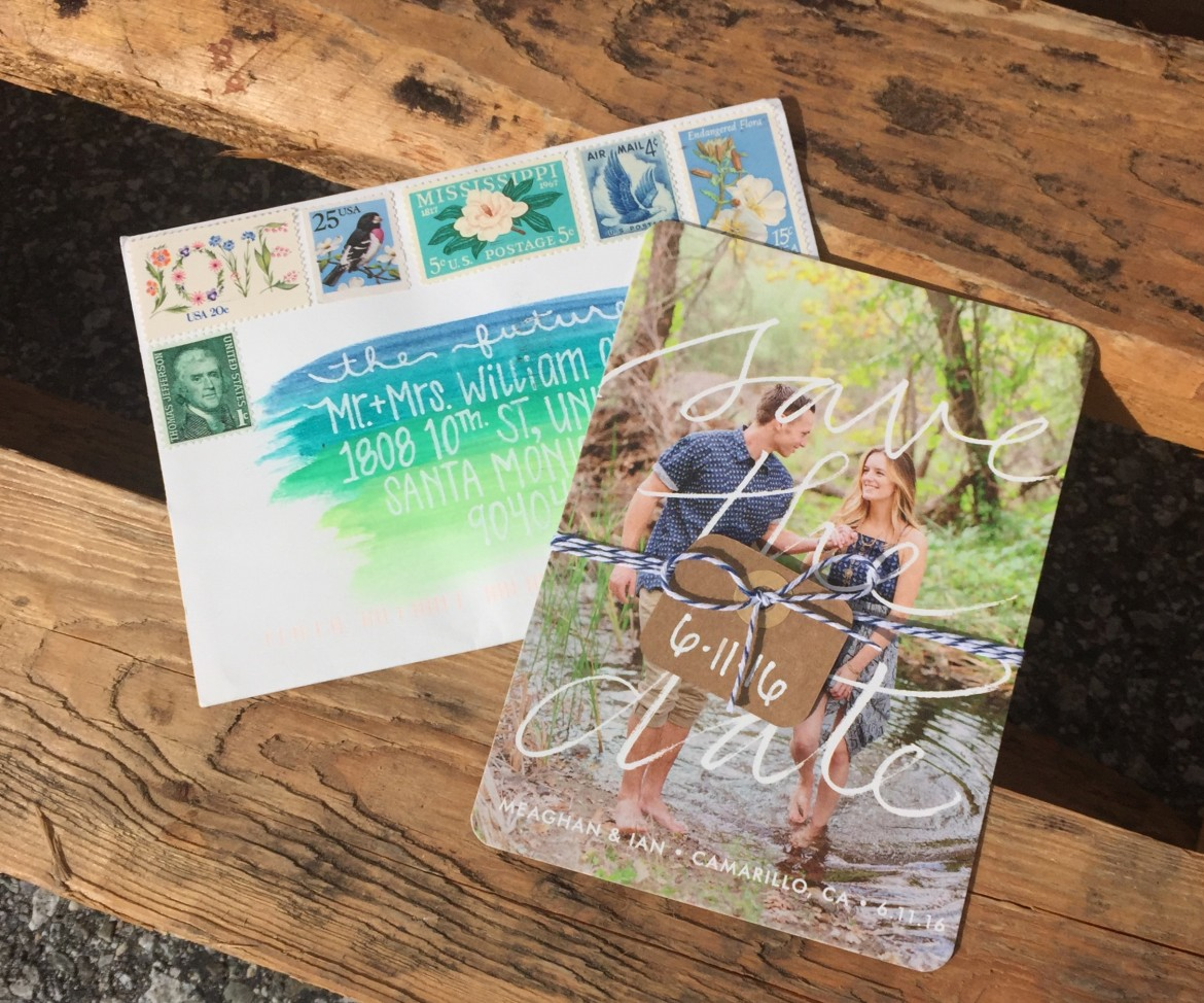 Rustic Garden Wedding Save the Date Magnet Minted Country Chic DIY Engagement Photography Photo