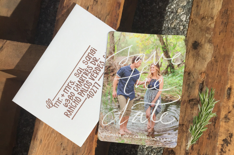 Check out these unique DIY Save the Date photo magnets from Minted. Perfect for any Country Chic Rustic Wedding!