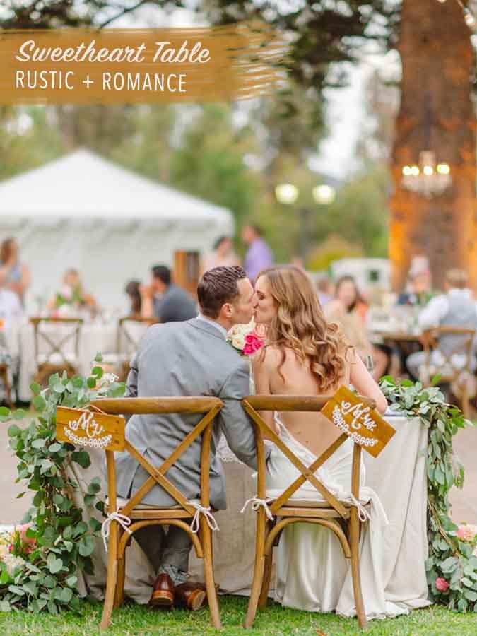 Romantic Wedding Ideas, Rustic Outdoor Wedding, Sweetheart Table