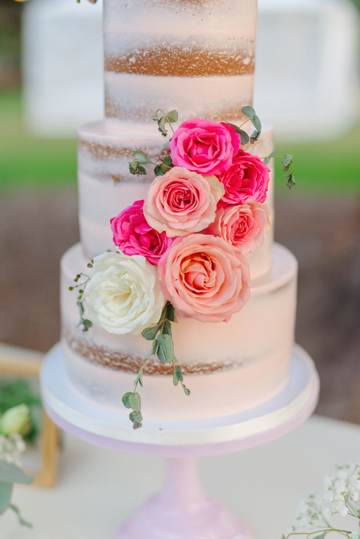 Rustic,Blush,Pink,Country,Wedding,Cake,Frost-It,Cakery,Camarillo,Ranch