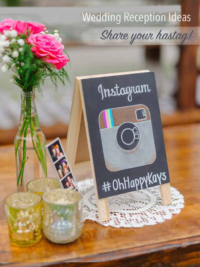 Wedding Chalkboard Sign, Social Hashtag, Rustic Outdoor Wedding, Lace Decor