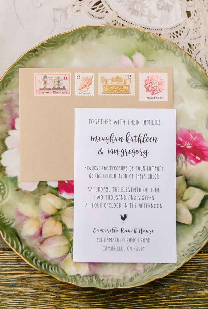 DIY Pink Rustic Farm Wedding Invitations