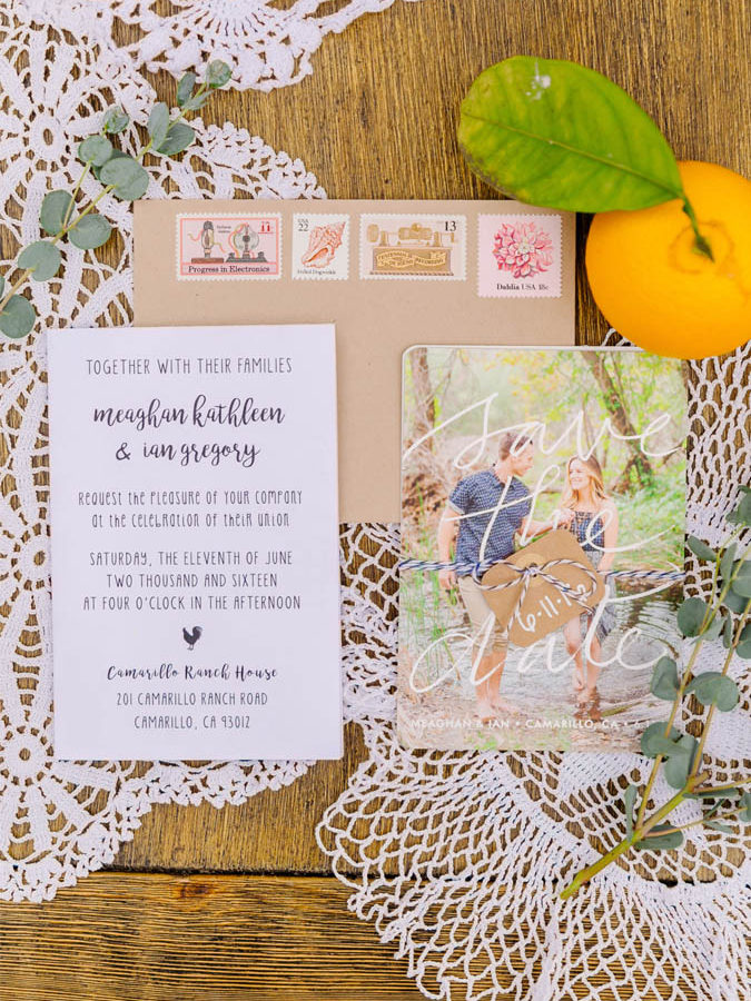 DIY Rustic Farm Wedding Invitations