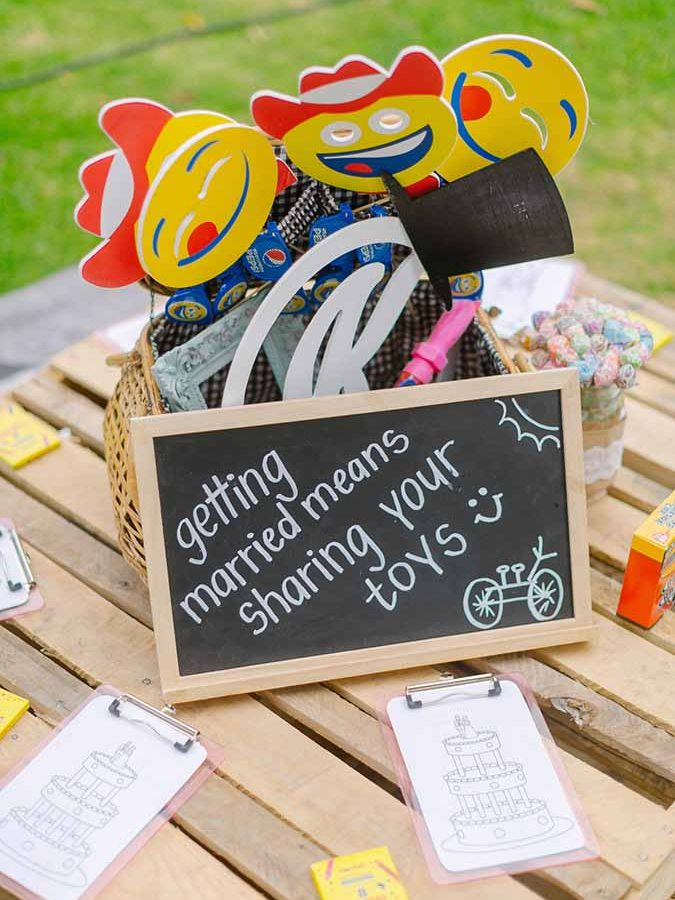 Wedding Activities for Kids, Unique Kids Table, Wedding Reception Ideas